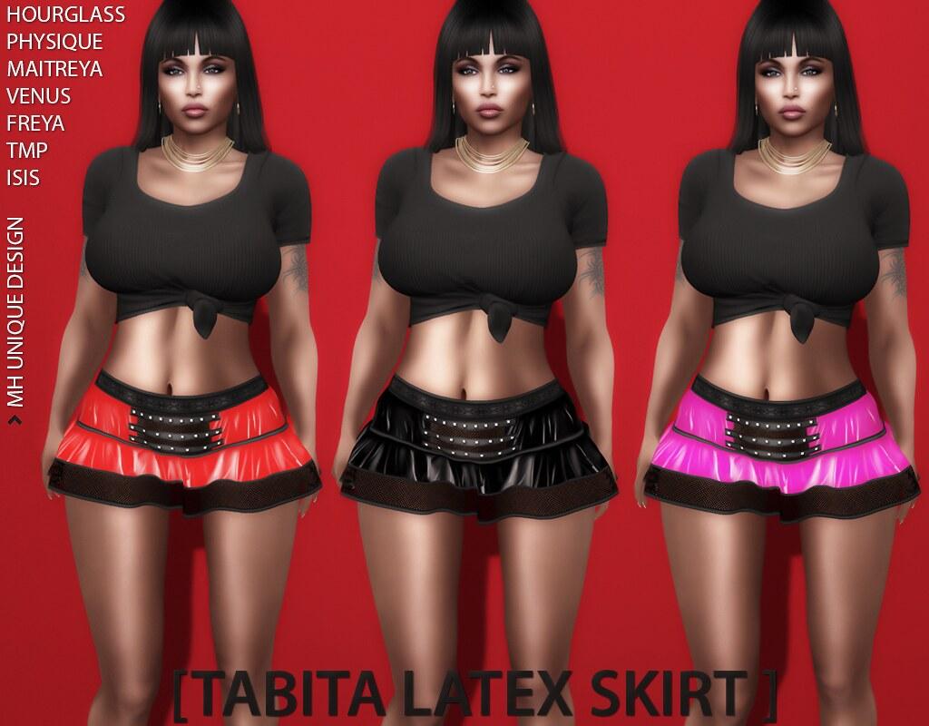 MH-Tabita Latex Skirt - TeleportHub.com Live!