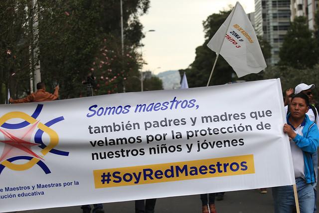 Marcha de la Red Maestros por la dignidad del docente