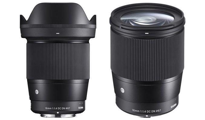 L'objectif Sigma 16mm f/1.4 DC DN Contemporary : Le prix et sa disponibilité dévoilé