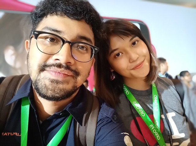 Hasil foto selfie Oppo F5. Liputan6.com/Jeko Iqbal Reza