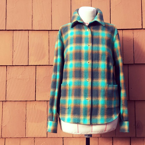 "Plaid Flannel In ""Lagoon"""