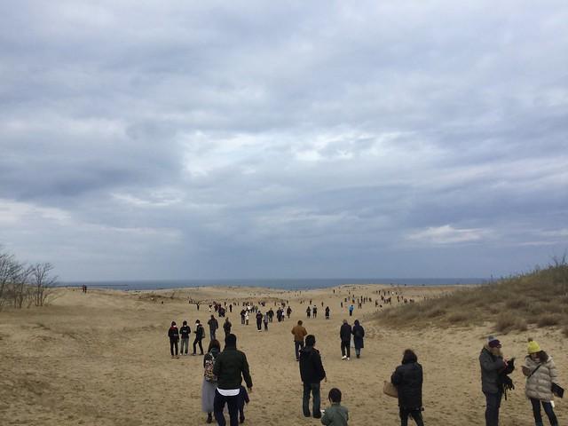 鳥取砂丘 まだそこまでは人はいない