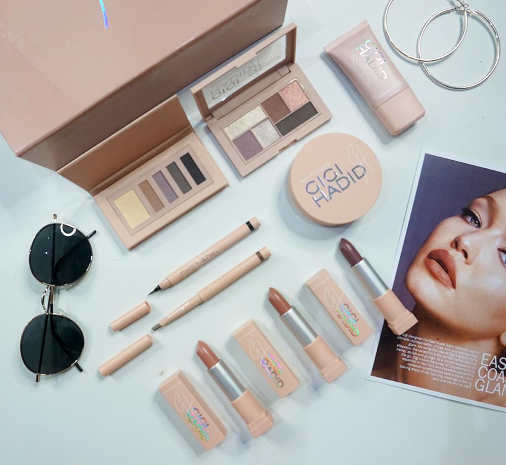 Gigi Hadid X Maybelline Flatlay Review