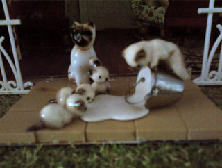 Cats - Caroline Peterson shared these naughty kitties she purchased for her mother and which now reside in Caroline's dollhouse.
