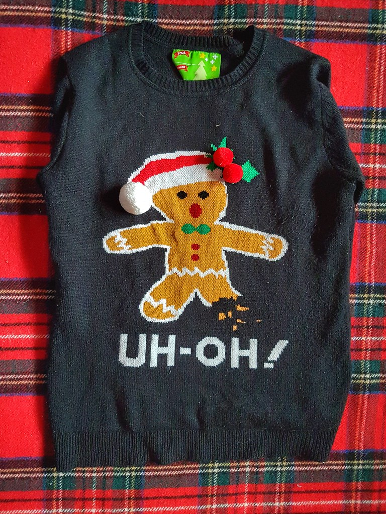 Amputee Gingerbread Christmas Sweater