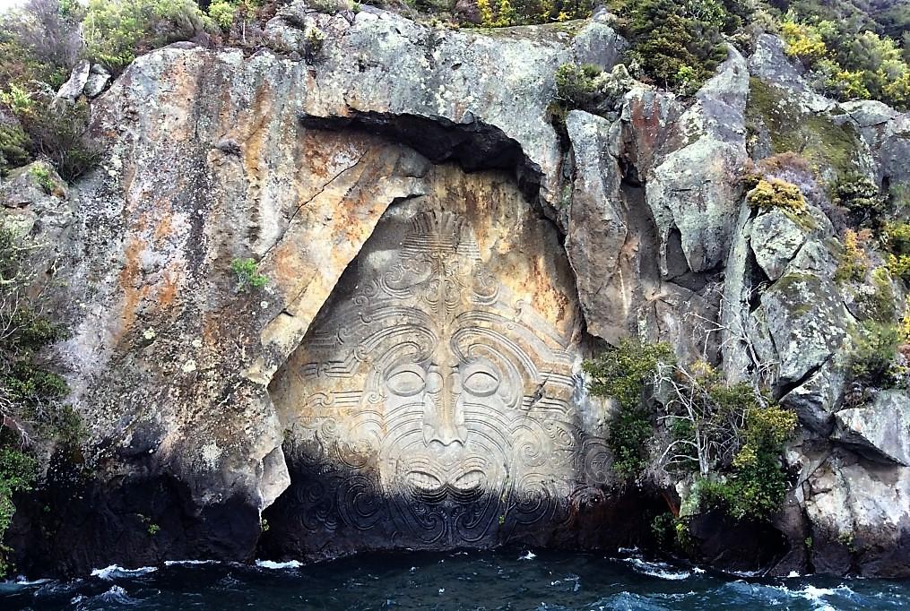 Таупо, часть четвертая - круиз к наскальным рисункам Маори