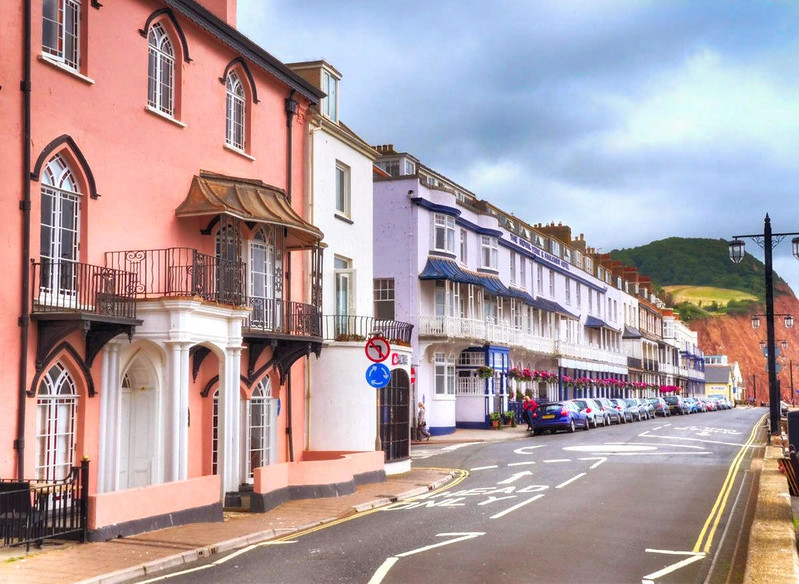 Sidmouth's Georgian-era seafront. Credit Baz Richardson, flickr