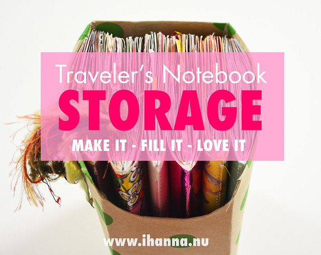 Handmade Travelers Notebook Storage blogged by iHanna - make your own storage #travelersnotebook #journaling #notebooks