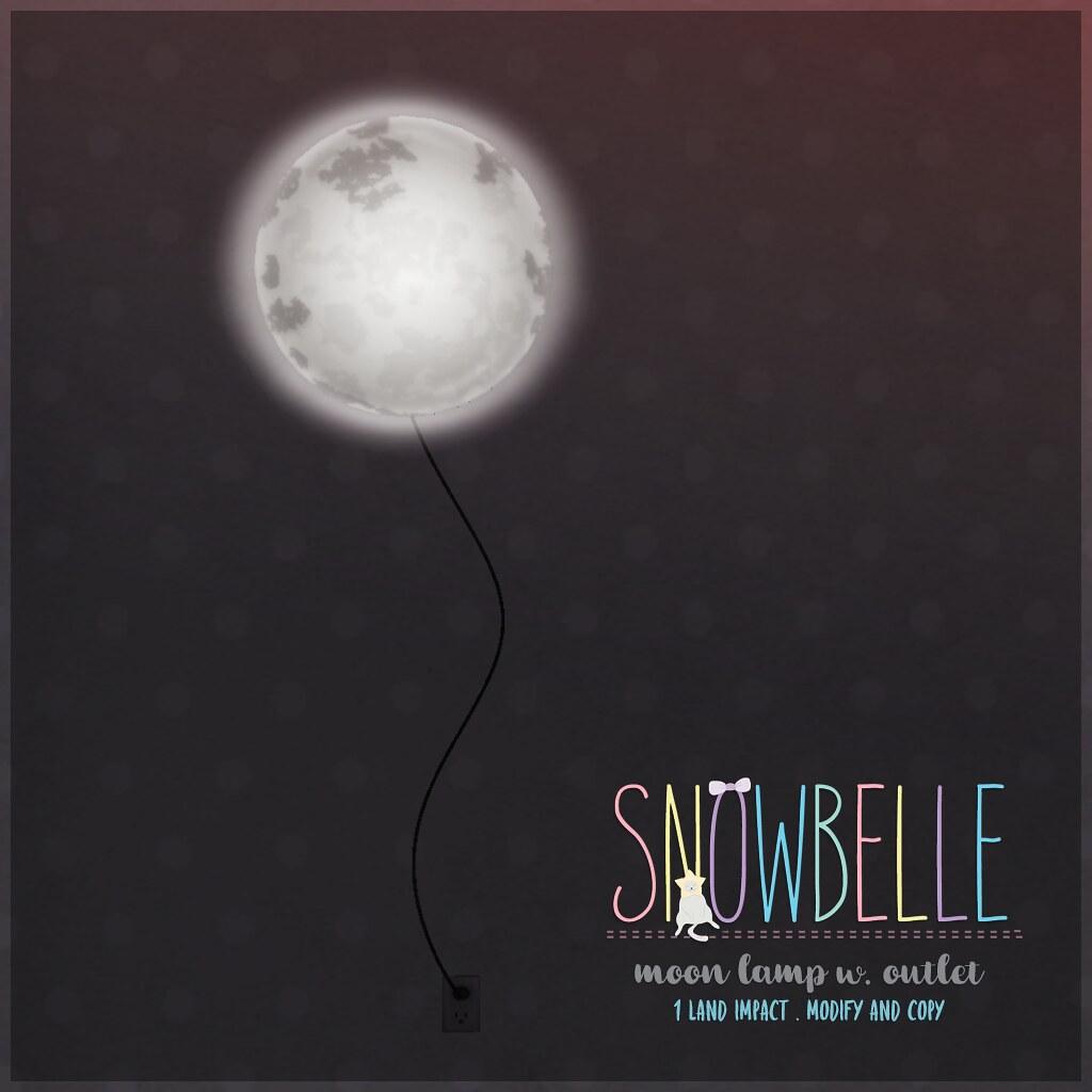 { snowbelle } moon lamp