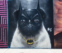 Batpug mural on Bondi Beach
