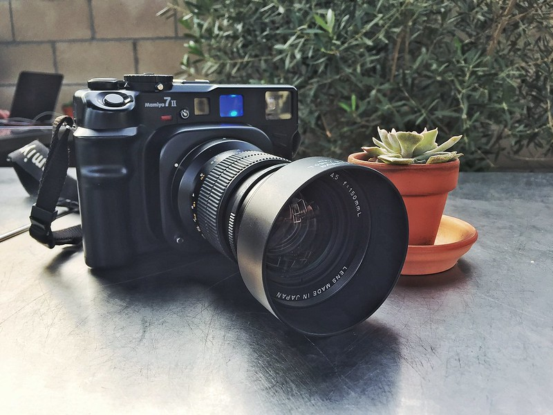 My Mamiya 7ii with the 150mm at Smitten Cafe