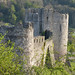 Chepstow Castle towers from above