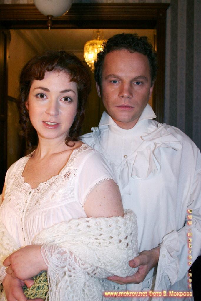 На съемках телевизионного фильма «Выйти замуж за генерала» фотозарисовки