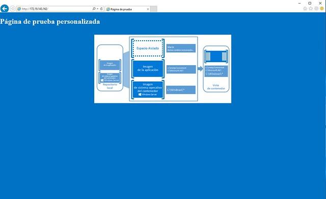 Página web personalizada en docker
