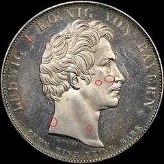 Counterfeit 1825 Bavaria Coronation Thaler2 obverse