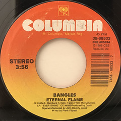 BANGLES:ETERNAL FLAME(LABEL SIDE-A)