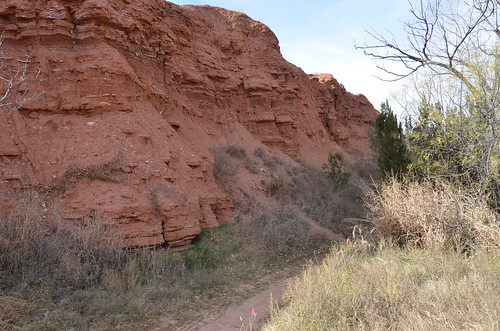Palo Duro cliff with gypsum
