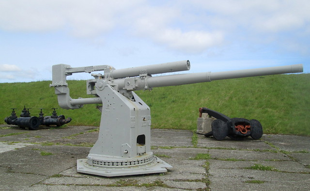 Third Gun, Lyness Naval Museum, Hoy, Orkney.