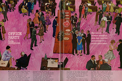 "1962 ""Mad Men-esque"" Short Story Illustration, ""The Party,"" Artist Hugh Baker (2 pages)"