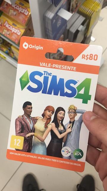 cartões vale presente do The Sims 4 chegaram ao Brasil