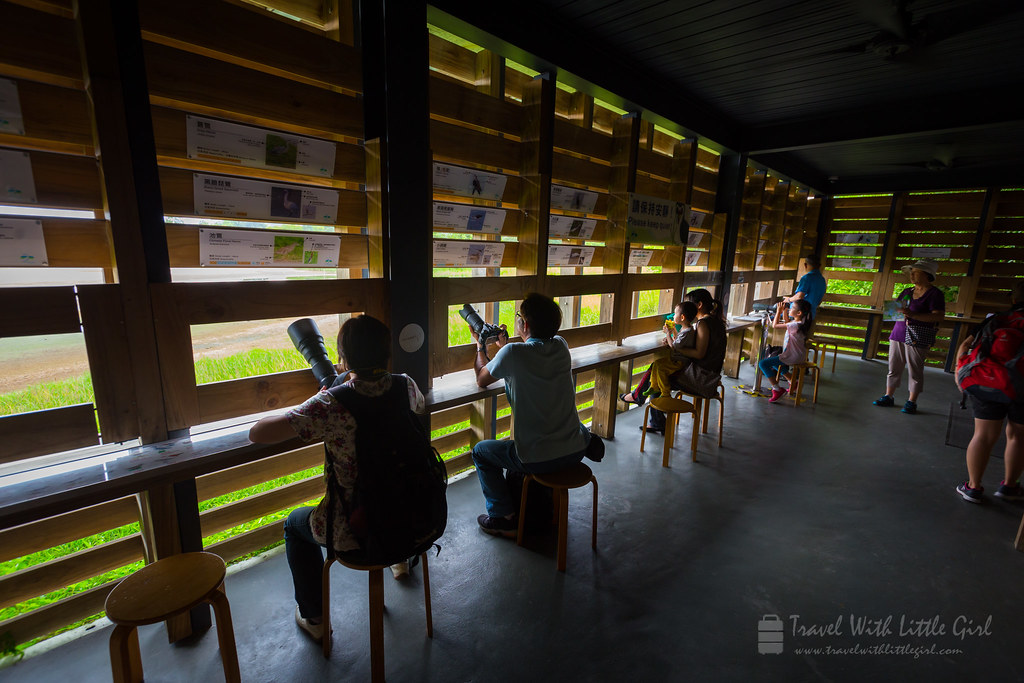 Bird photographers in the bird hides, Hong Kong Wetland Park