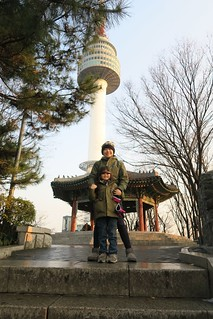 Alan and Lisa at North Seoul Tower