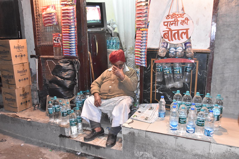 A bottled water shop- what he does really beats me
