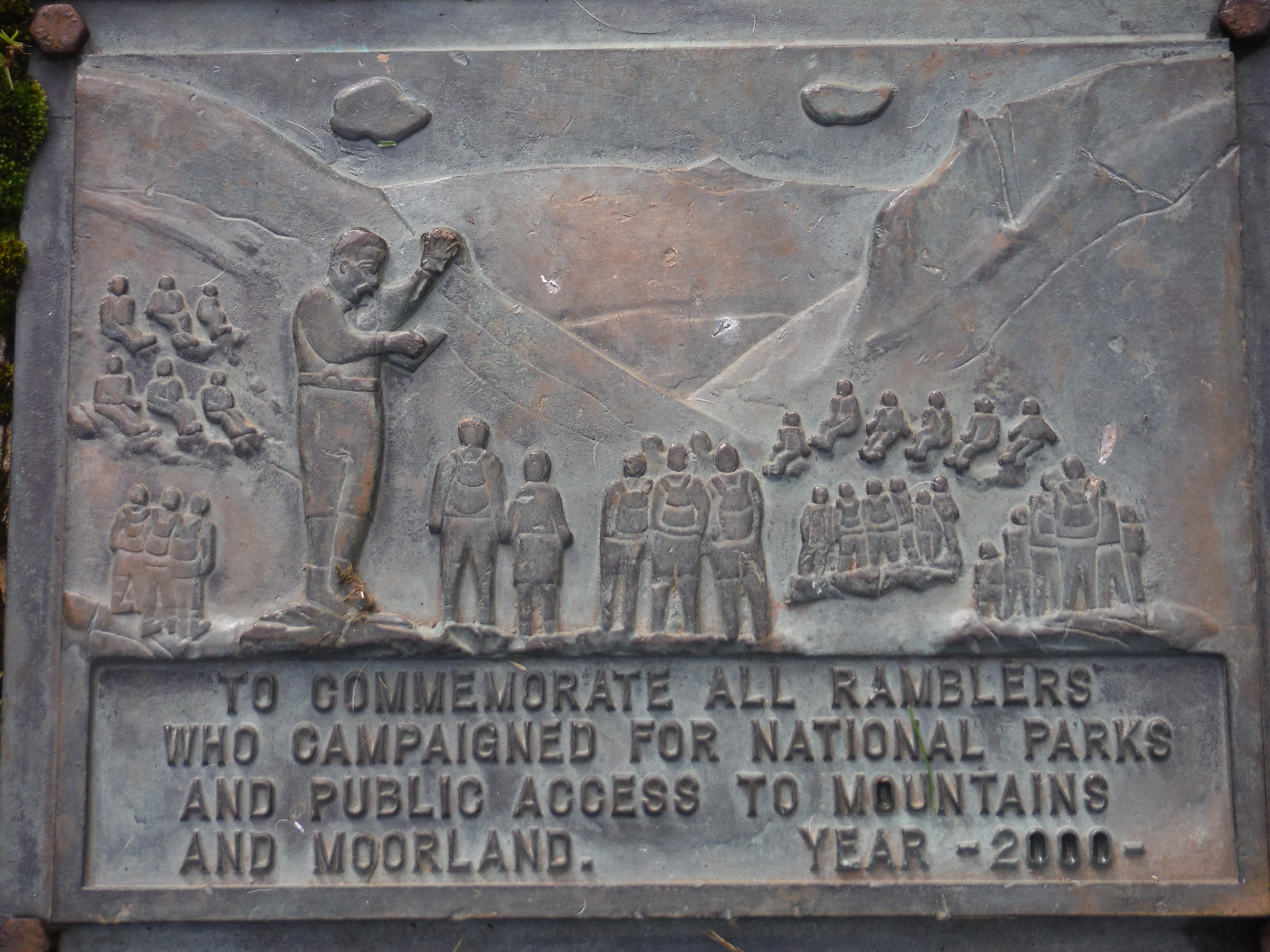 Commemorative Plaque, Winnats Pass SWC Walk 302 - Bamford to Edale (via Win Hill and Great Ridge) [Castleton Alternatives]