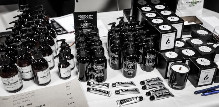 Lakritsa- ja salmiakkifestivaalit 2017 Wanha Satama Helsinki Marvis hammastahna Elisabeth Johansson licorice spa kosmetiikka hoitoaine shampoo