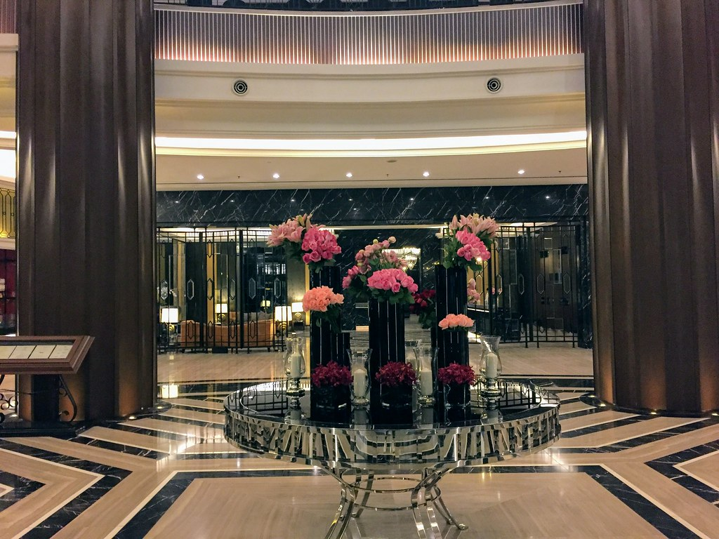 Flowers at the Hotel Entrance