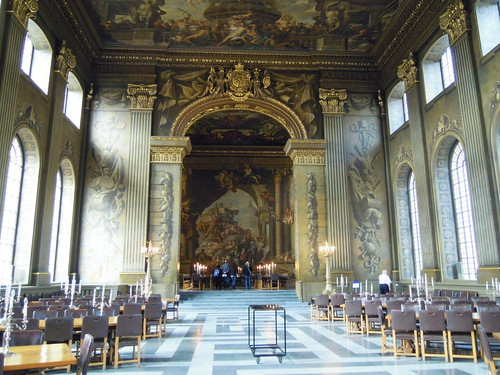The Painted Hall, Greenwich. From Studying Abroad in London: A Quick Ride to Greenwich!