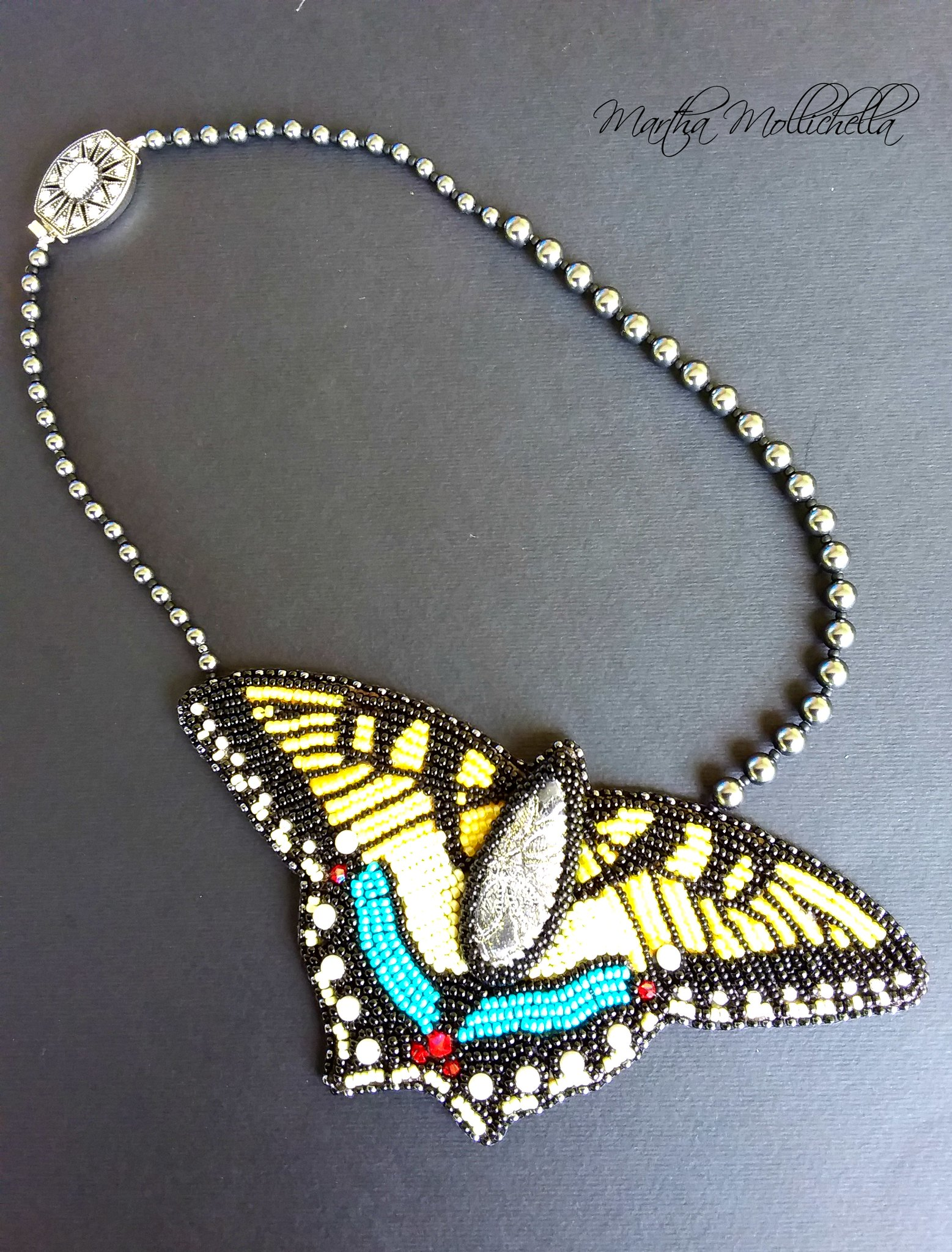 butterfly jewels butterfly tiger handmade by Martha Mollichella
