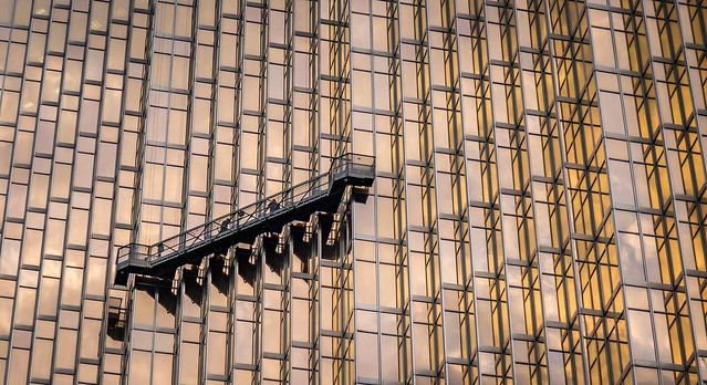 Royal Bank window washers detail
