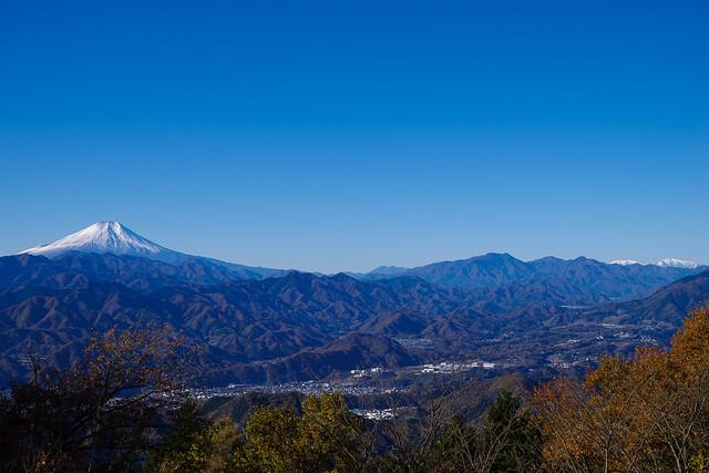 富士と南アルプス