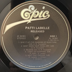 PATTI LABELLE:RELEASED(LABEL SIDE-A)