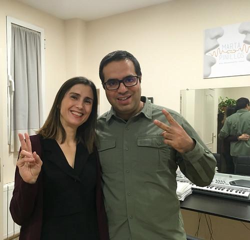 Con Marta Pinillos