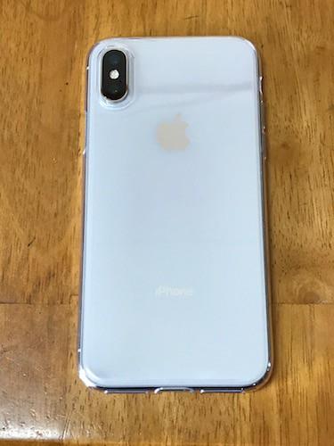 iPhoneXにケースを装着