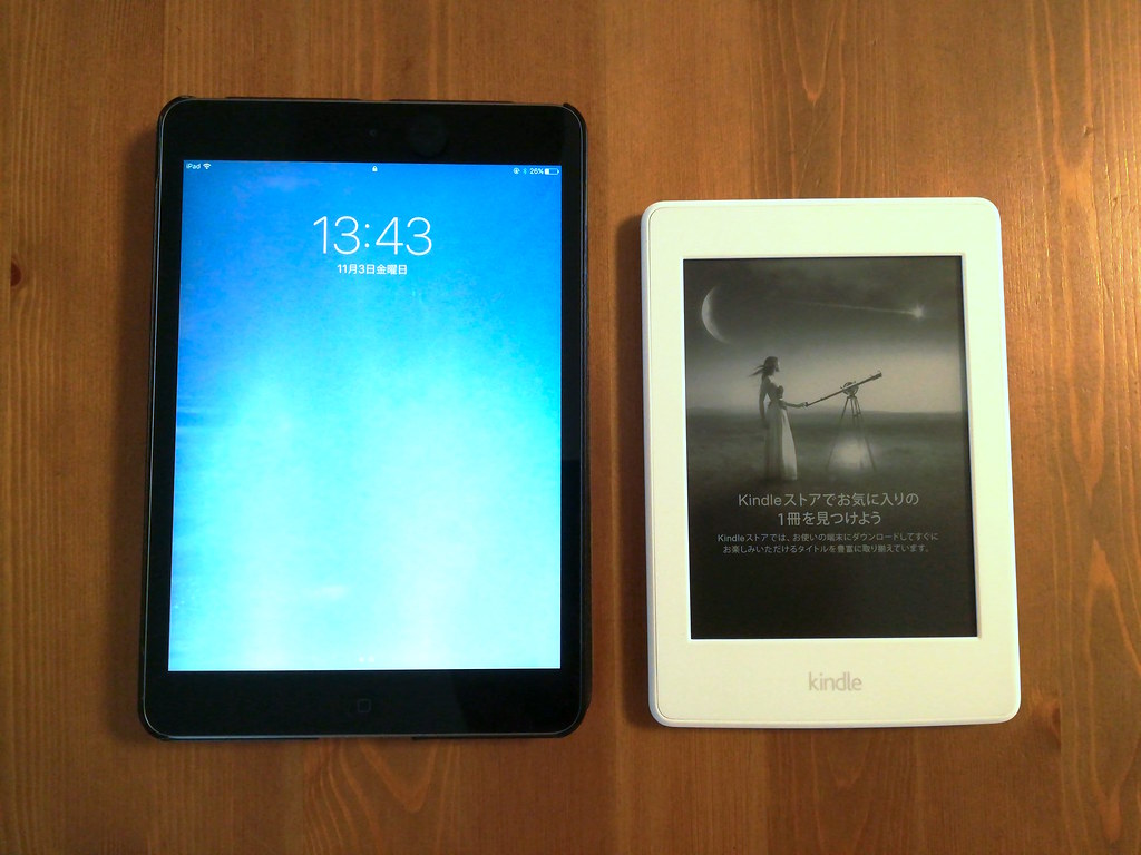 Kindle Paperwhite and iPad mini