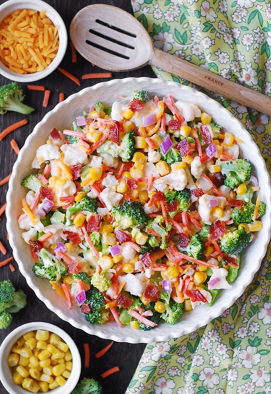 best Ranch salad, Ranch Broccoli Bacon Salad, easy broccoli salad