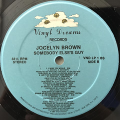 JOCELYN BROWN:SOMEBODY ELSE'S GUY(LABEL SIDE-B)