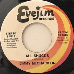 JIMMY MCCRACKLIN:ALL SHUCKS(LABEL SIDE-A)