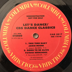 V.A.:LET'S DANCE:CBS DANCE CLASSICS(LABEL SIDE-B)