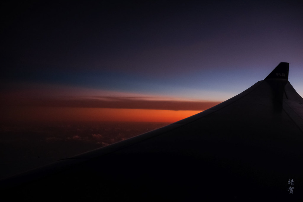 Sunset from the flight