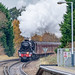 Ex. LMS Black 5 45212 Storms through Ash, in Surrey, with the 'Cathedral's Express' from Alton to Bath on 5 December 2017.