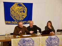 Marco Gentili, Sergio D'Elia ed Elisabetta Zamparutti
