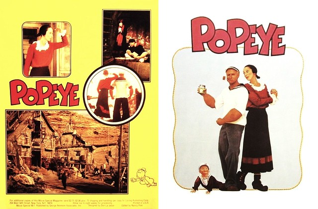 Popeye (1980 / Paramount) front & back covers