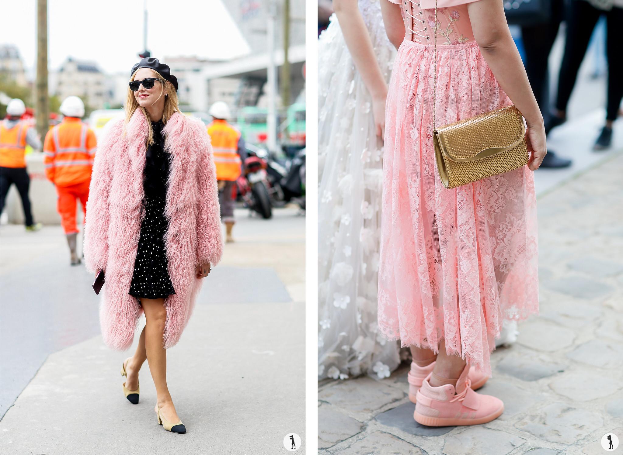 Chiara Ferragni and Close up - Paris Fashion Week SS18