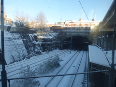 Snow at Jewellery Quarter Station - West Midlands Railway