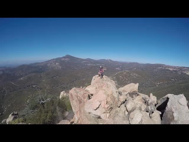 158 GoPro panorama video from the Oakzanita Peak summit