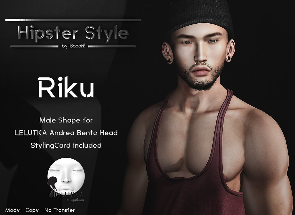 [Hipster Style] Riku Male Shape for LELUTKA Andrea Bento Head